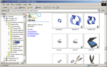 Thumbnails of 3D models in Windows 2000 Explorer.