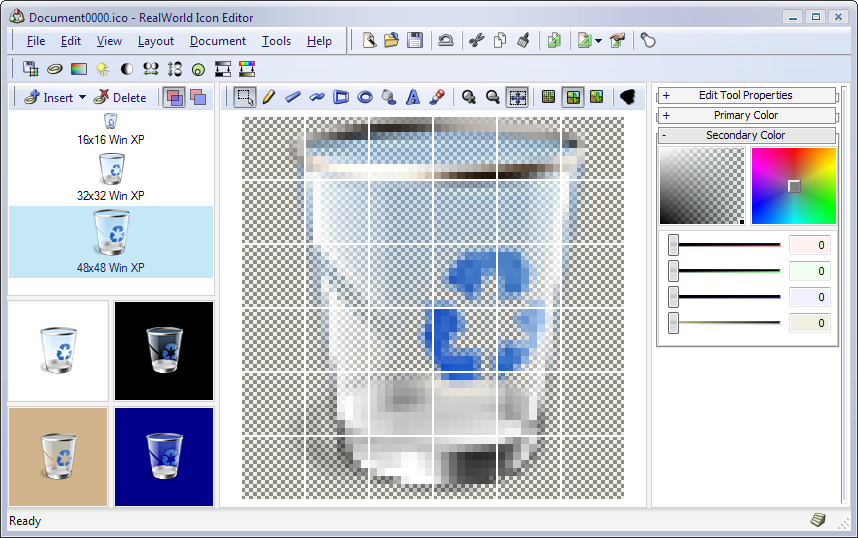 Realworld Screenshot Editing Icon In Windows Vista Beta 1